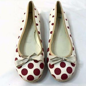 Miu Miu Prada Ballet Flats Slip On Shoes Red Polka